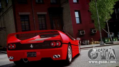 Ferrari F50 1995 para GTA 4 vista hacia atrás
