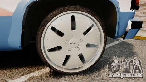 Chevrolet D-20 Custom para GTA 4 vista hacia atrás