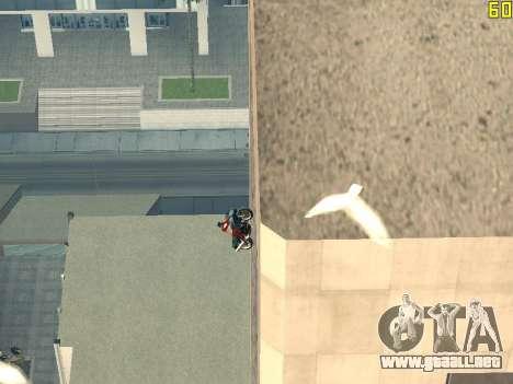 Montar a caballo en paredes y techos v2.0. para GTA San Andreas quinta pantalla