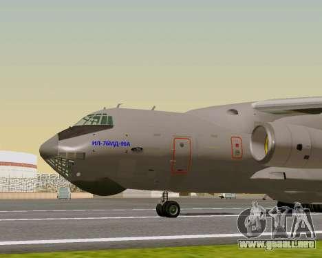 Il-76md-90 (IL-476) para GTA San Andreas vista posterior izquierda