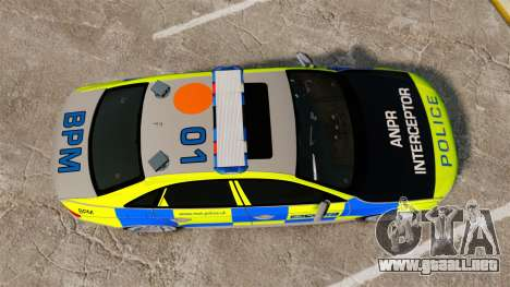Audi S4 ANPR Interceptor [ELS] para GTA 4 visión correcta