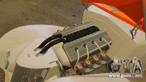 Ford Roadster 1936 Chip Foose 2006 para GTA 4 vista hacia atrás