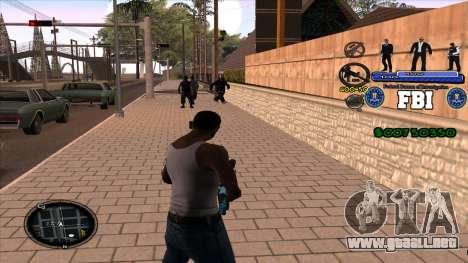 C-HUD FBI para GTA San Andreas segunda pantalla