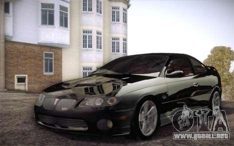 Pontiac GTO 2005 para GTA San Andreas left