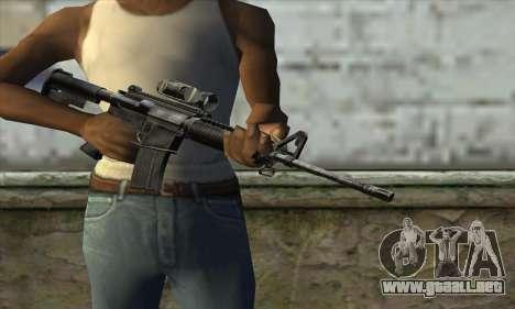 M4A1 Carbine Assault Rifle para GTA San Andreas tercera pantalla