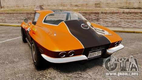 Chevrolet Corvette C2 1967 para GTA 4 Vista posterior izquierda