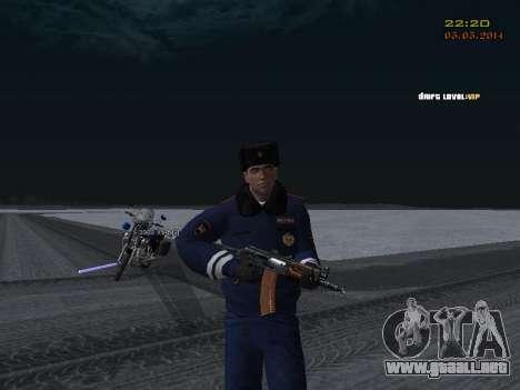 Pak DPS en un formato de invierno para GTA San Andreas décimo de pantalla