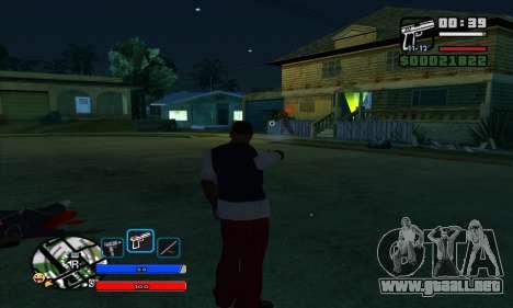 C-HUD by Fawkes para GTA San Andreas segunda pantalla
