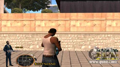 C-HUD La Cosa Nostra para GTA San Andreas segunda pantalla