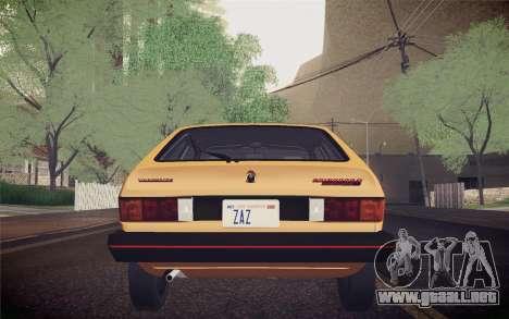 Volkswagen Scirocco S (Typ 53) 1981 IVF para GTA San Andreas interior