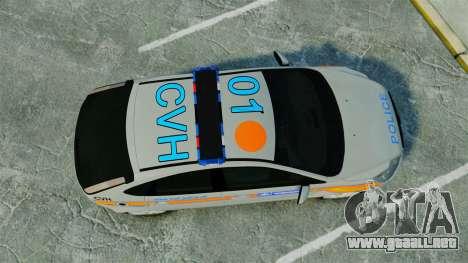 Ford Focus Metropolitan Police [ELS] para GTA 4 visión correcta