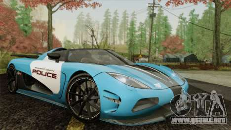 Koenigsegg Agera R para GTA San Andreas left