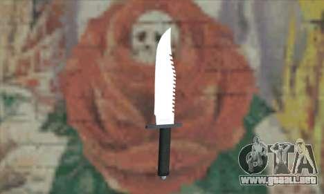 Cuchillo de Rambo para GTA San Andreas