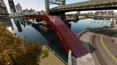Nuevo puente en el Este de la isla de la ciudad