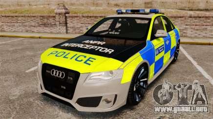 Audi S4 ANPR Interceptor [ELS] para GTA 4