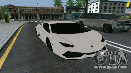 Lamborghini Huracane LP610-4 para GTA San Andreas