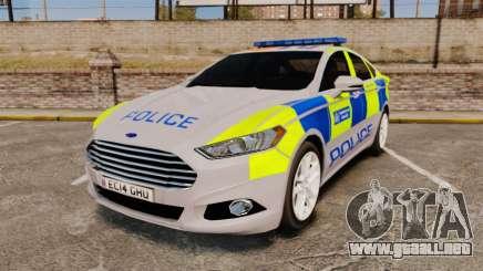 Ford Mondeo 2014 Metropolitan Police [ELS] para GTA 4