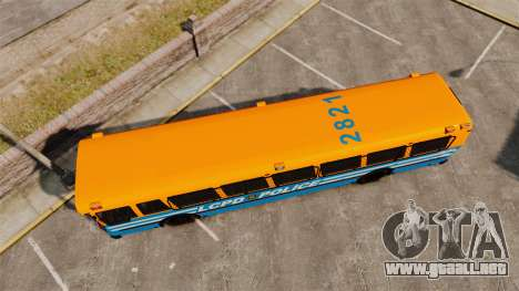 Brute Bus LCPD [ELS] v2.0 para GTA 4 visión correcta