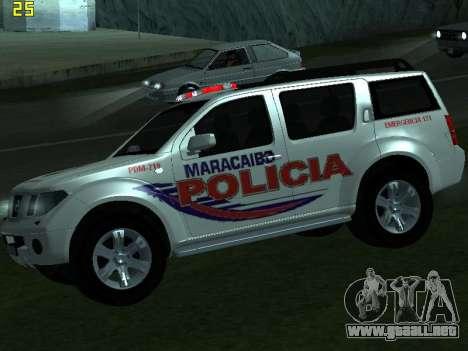 Nissan Pathfinder Polimaracaibo para la visión correcta GTA San Andreas