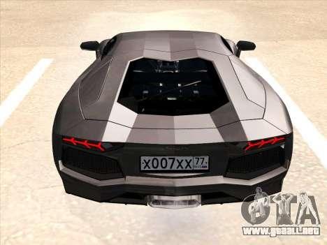 Lamborghini Aventador LP700-4 2013 para las ruedas de GTA San Andreas