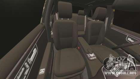 Mercedes-Benz S65 (W221) AMG para GTA 4 vista desde abajo