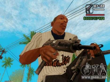 La subametralladora UZI para GTA San Andreas tercera pantalla