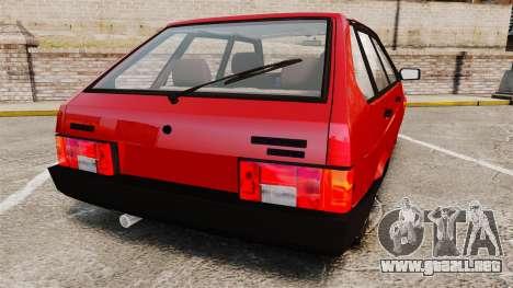 VAZ-2109 Satélite para GTA 4 Vista posterior izquierda