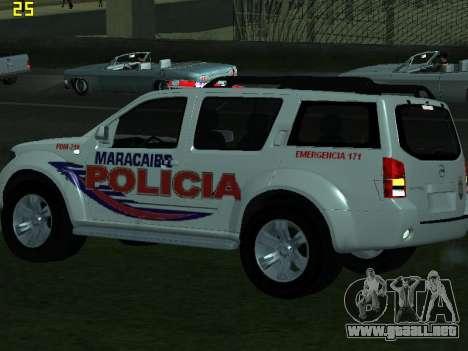 Nissan Pathfinder Polimaracaibo para visión interna GTA San Andreas