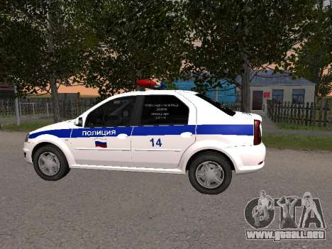 Renault Logan ДПС para GTA San Andreas left
