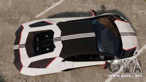 Lamborghini Aventador LP700-4 2012 Adidas Carbon para GTA 4 visión correcta