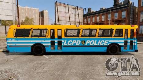 Brute Bus LCPD [ELS] v2.0 para GTA 4 left