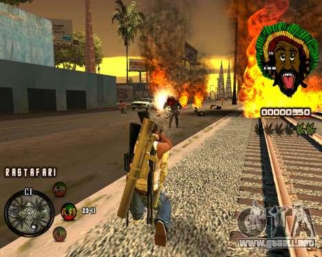 C-HUD Rastafari para GTA San Andreas tercera pantalla
