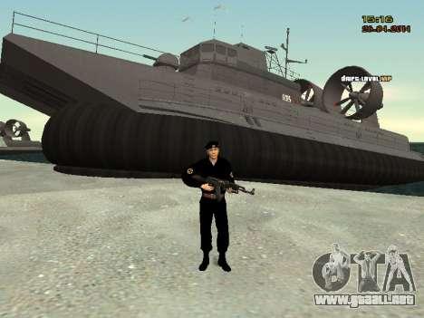 El Cuerpo de infantería de marina de las fuerzas para GTA San Andreas sucesivamente de pantalla