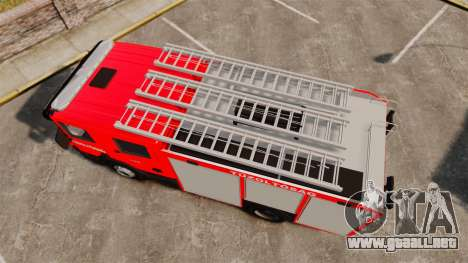 Húngaro camión de bomberos [ELS] para GTA 4 visión correcta