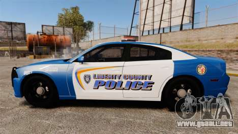 Dodge Charger 2013 Liberty County Police [ELS] para GTA 4 left