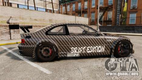BMW M3 GTR 2012 Drift Edition para GTA 4 left