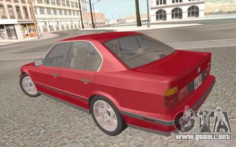 BMW M5 E34 1991 NA-spec para el motor de GTA San Andreas