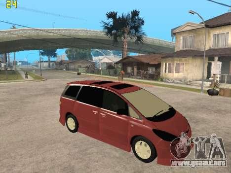 Toyota Estima Altemiss 2wd para la visión correcta GTA San Andreas