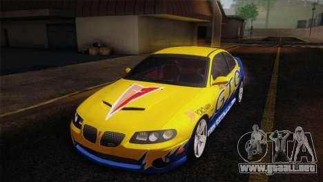Pontiac GTO 2005 para la vista superior GTA San Andreas
