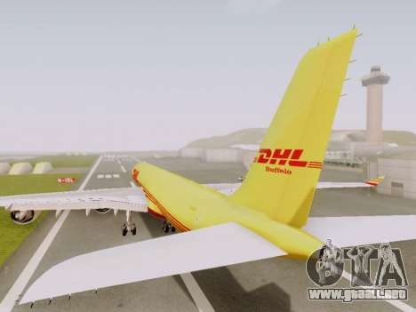 Airbus A340-600F DHL Buffalo para GTA San Andreas vista hacia atrás
