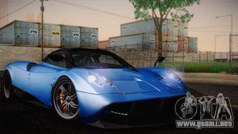 Pagani Huayra para GTA San Andreas vista posterior izquierda