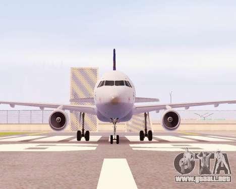 Airbus A320-200 Lufthansa para GTA San Andreas left