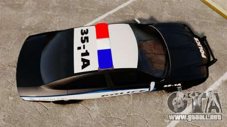 Dodge Charger 2013 Liberty City Police [ELS] para GTA 4 visión correcta