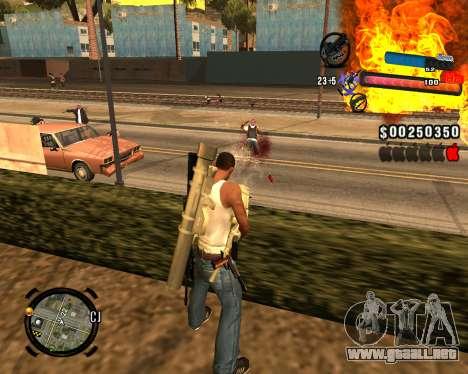 El nuevo C-HUD para GTA San Andreas sucesivamente de pantalla