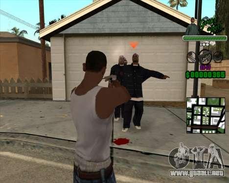 C-Hud Grove Street para GTA San Andreas segunda pantalla