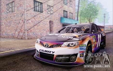Toyota Camry NASCAR Sprint Cup 2013 para GTA San Andreas vista hacia atrás