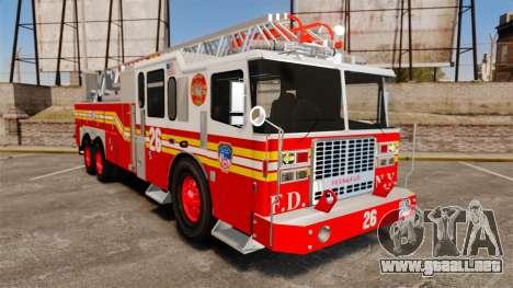 Ferrara 100 Aerial Ladder FDNY [working ladder] para GTA 4