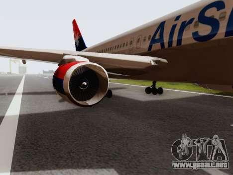 Boeing 767-300 para GTA San Andreas vista posterior izquierda