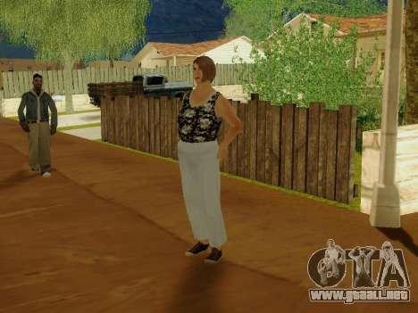 Una mujer de edad avanzada v.2 para GTA San Andreas tercera pantalla