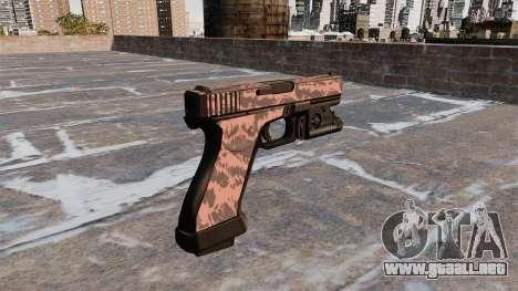 Pistola Glock 20 De Tigre Rojo para GTA 4 segundos de pantalla